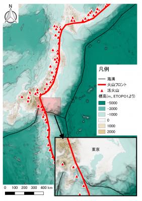 活火山と海溝の位置関係